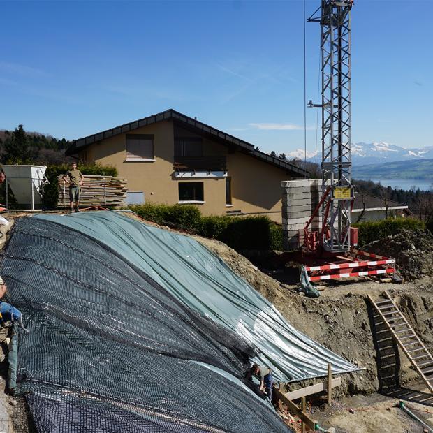 Baugrubensicherung für ein Jahr