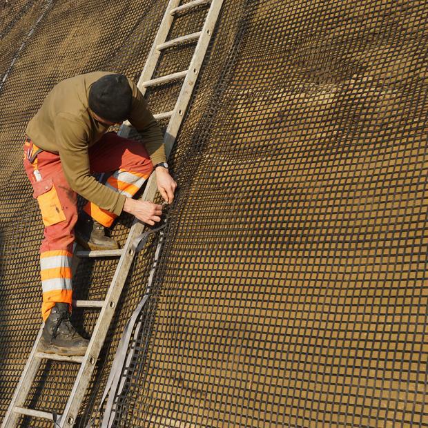 Provisorische Baugrubensicherung
