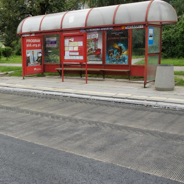 Example: Installation in the area of bus stops