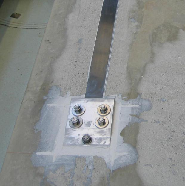 S&P C-Laminate with anchoring plate (deflection)