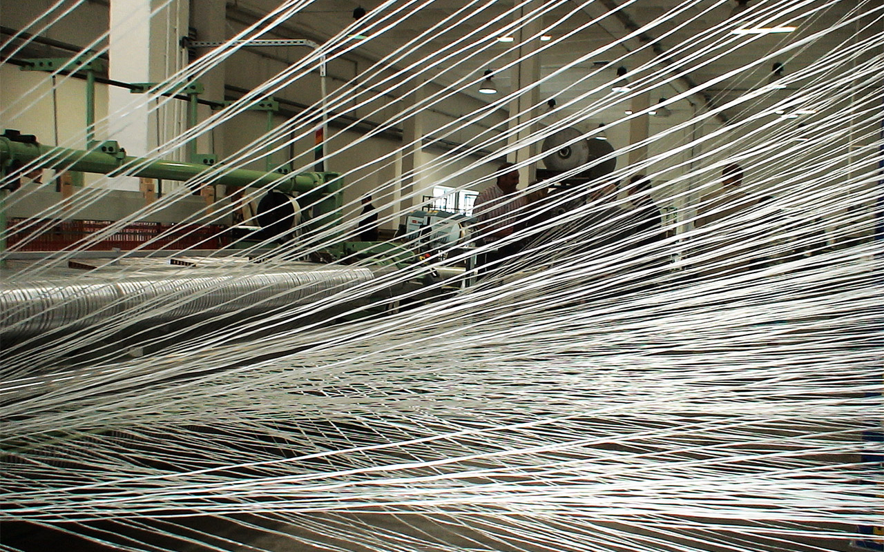 Weaving machine - S&P Glasphalt® G production